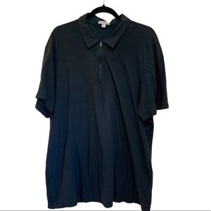 James Perse Zip Up Polo T-Shirt size 4=XL